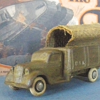 Barr Rubber '35 Ford Army Truck. Rubber with burlap.  - Model Cars