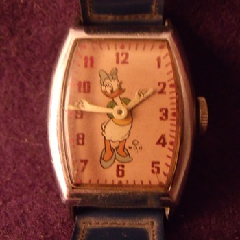 1948 Tonneau Style Daisy Duck Wrist Watch - Wristwatches
