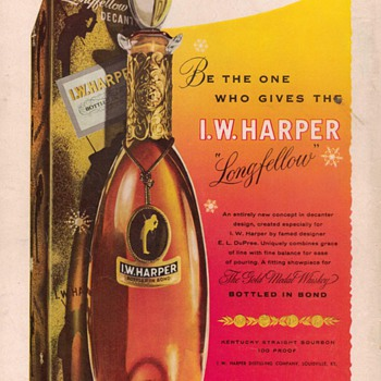 1954 I.W. Harper Bourbon Advertisement - Advertising
