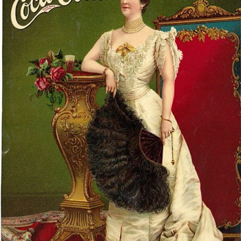 Lillian Nordica Advertising Card (partial) - Coca-Cola