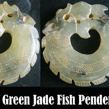 Jade Carp Fish Pendent - Asian