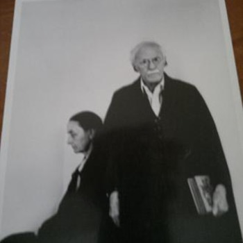 Photograph  Of Georgia Okeef & her husband Alfred Stieglitz