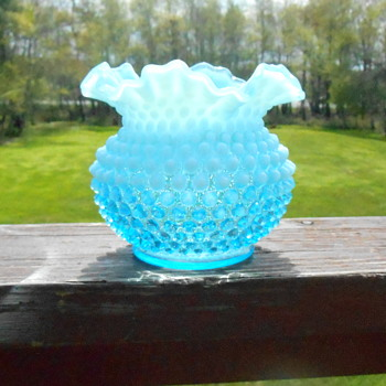 Fenton  Opalescent Hobnail Art Glass Vase - Art Glass