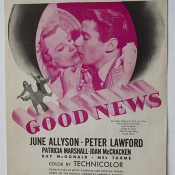 "Sheet Music from the Motion picture ""Good News""…""The Best Things in Life Are Free"" - Music"