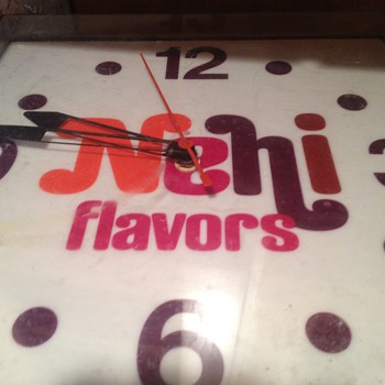Nehi flavors clock - Advertising