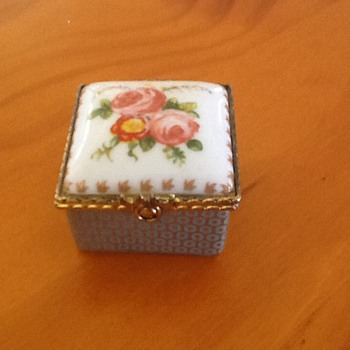 Tiny Porcelain Box - China and Dinnerware
