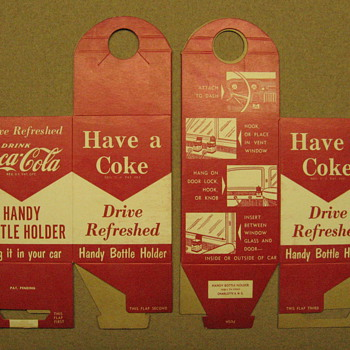 Minty-ish, NOS Coca-Cola Handy Bottle Holder - Coca-Cola
