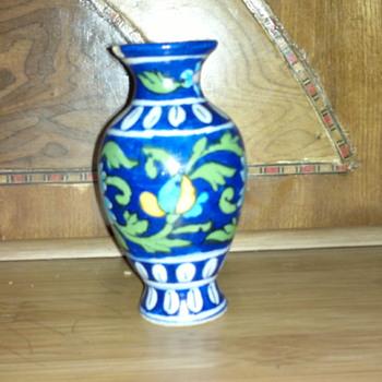 A Classic Blue Pottery Vase - Art Pottery