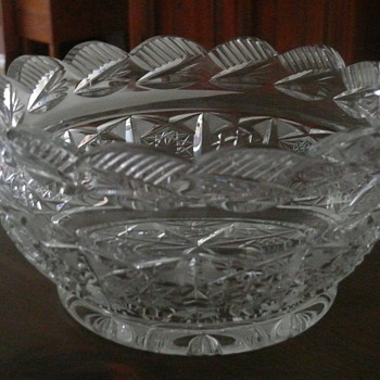 Heavy cut crystal salad bowl