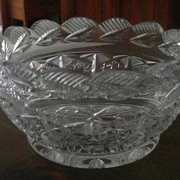 Heavy cut crystal salad bowl
