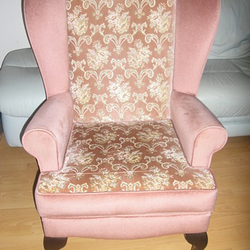 High-back fireside chair