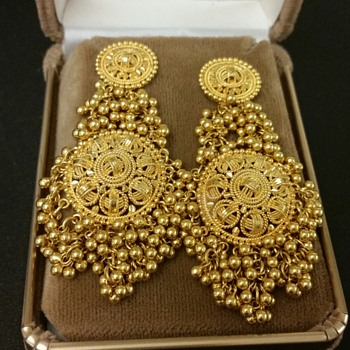 Mid East Indian 22kt Earrings - Fine Jewelry