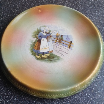 Large decorated plate, backstamp unknown