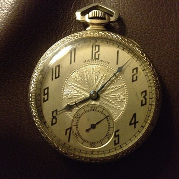 Hamilton Watch anyone know what year or type?? - Pocket Watches