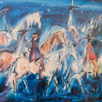 Ted DeGrazia Navajo Night Chant Lithography - Visual Art
