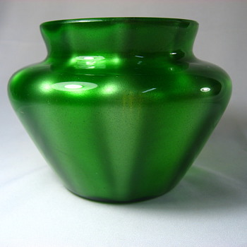 Loetz Green Metallin - Art Glass