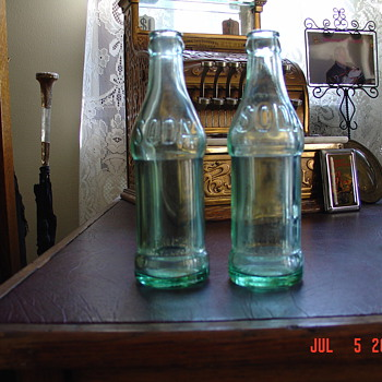 Embossed Soda Bottles...Pat&#039;d. Nov.23, 1923...CocaCola - Coca-Cola