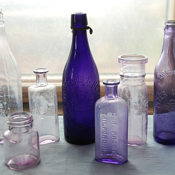 Old Amethyst Colored Bottles - Bottles