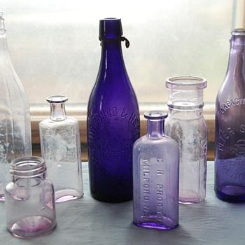 Old Amethyst Colored Bottles