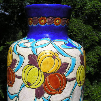 Art Deco Vase by Boch Freres