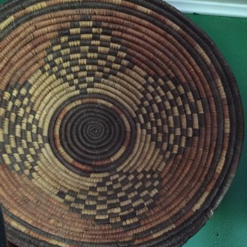 Native American weaved basket