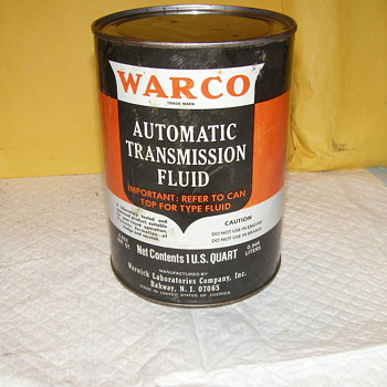 WARCO TRANNY FLUID CAN - Petroliana