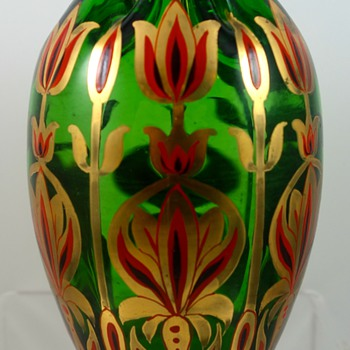 Josephinenhütte vase designed by Julius Camillo de Maess, ca. 1900 - Art Glass