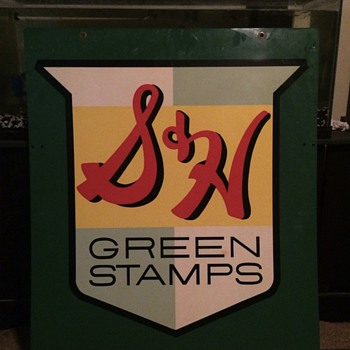 S&H green stamp sign - Signs