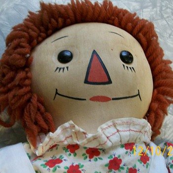 Georgene Black outlined nose Raggedy Ann doll  - Dolls
