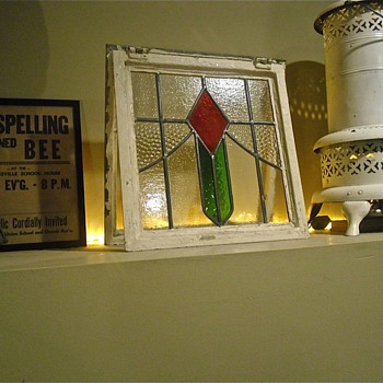 English Cottage Stained Glass Window with Complete Framing - Art Glass