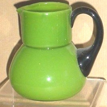 LOETZ HARRACH MAY GREEN PITCHER. - Art Glass