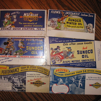 Original Sunoco Advertising Ink Blotters