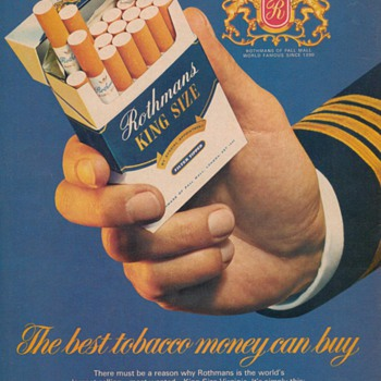 1978 - Rothmans Cigarettes Advertisement - Advertising