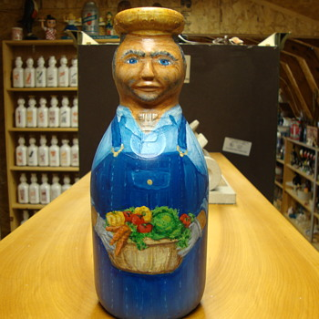 Folk Art Paulus Cop The Cream milk bottle......