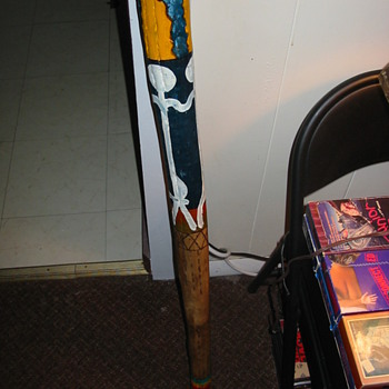 One of a kind African cane/rainmaking staff