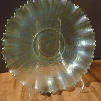 Shallow Glass Bowl-Depression Glass? - Glassware