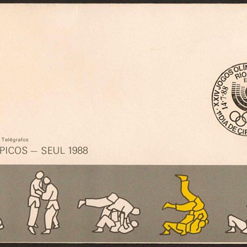 "1988 - ""XXIV Olympic Games"" First Day Cover - Brazil - Stamps"