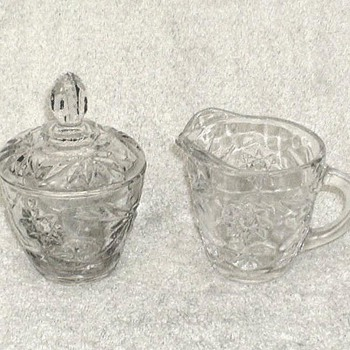 Anchor Hocking Creamer & Sugar Bowl