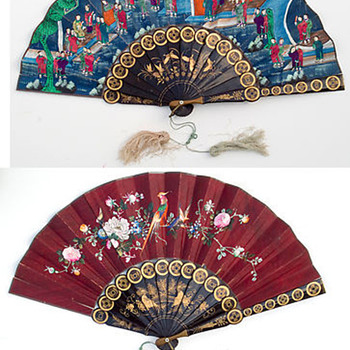 Nice old Mandeian chinese fan 1'000 men - Asian