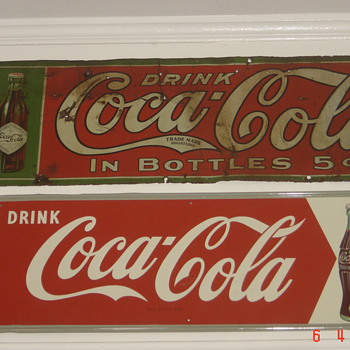 1906 Tin Coke sign-oldest Coke sign I own - Advertising