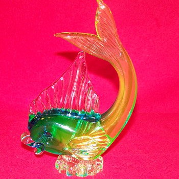 It's Fishin Season ! Icet Arte Murano Uranium Glass Fish