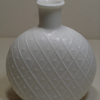 Clevenger Diamond Milk Glass Syrup Bottle 1935-1940
