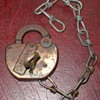 Adlake Railroad Padlock...With Brass Key And Chain