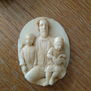 Possible Ivory - Part of a cameo/pendant? I have questions! - Victorian Era