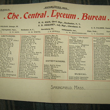 The Central Lyceum Bureau.... - Arts and Crafts