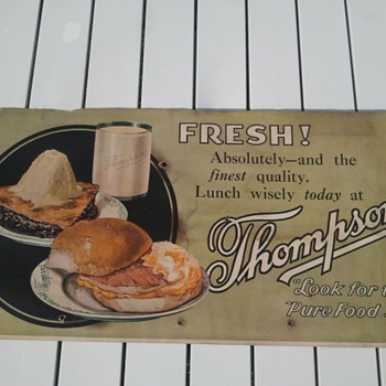 Pre-1920's Trolley Car Restaurant Advertisement Sign