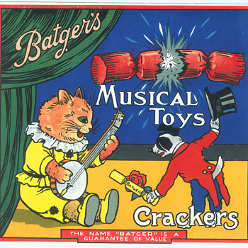 British Paper crate labels for Batgers Crackers 2