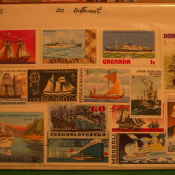 20 Different Vintage Nautical Stamps - Stamps