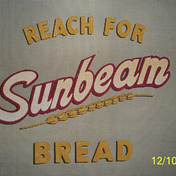Antique RARE SUNBEAM BREAD SCREEN DOOR Very NEAT!! - Advertising