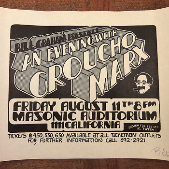 Groucho Marx in San Francisco, 1972 - Posters and Prints